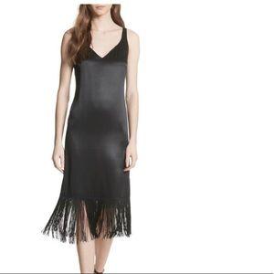 Tracy Reese Fringe Silk Midi Dress NWT